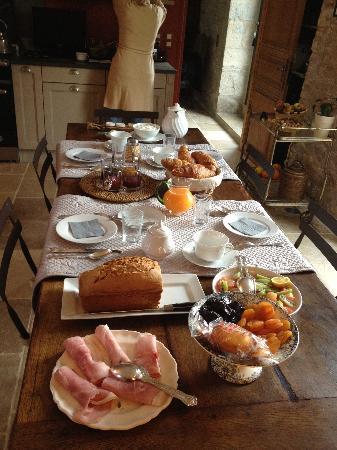 Domaine de Labarthe : Petit déjeuner