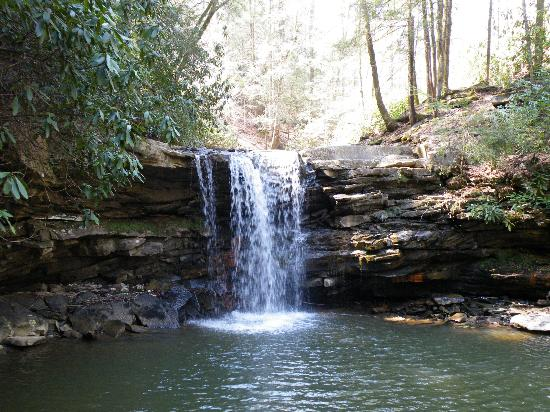 Twin Falls State Park: One of the Twin Falls
