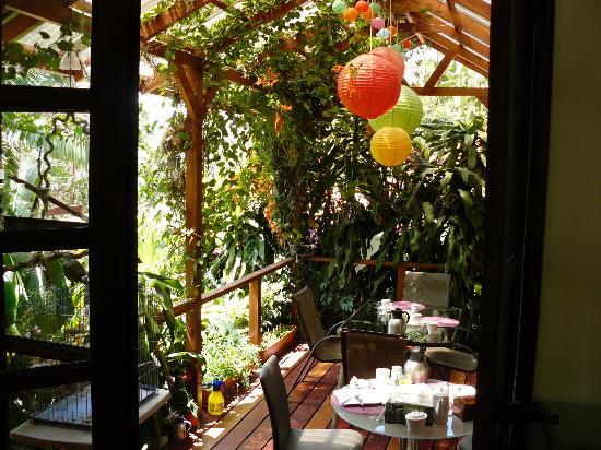 Tacacori EcoLodge: terrasse du petit déjeuner