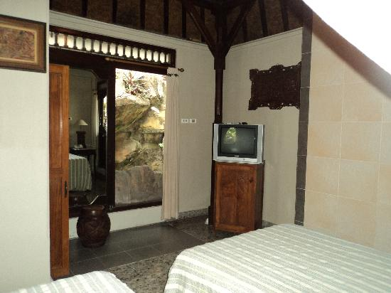 Taman Harum Cottages: TV with dvd player