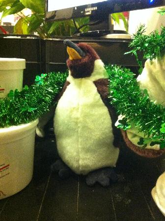 The Annapolis Ice Cream Company mascot - A Penguin