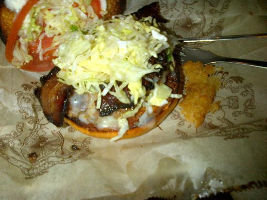 Bareburger: My burger- maple bacon cheesburger