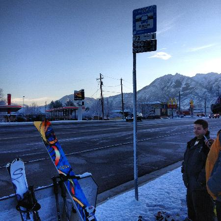 Super 8 Pride Midvale/Midvalley/Salt Lake City Area: Waiting at the Bus Stop!
