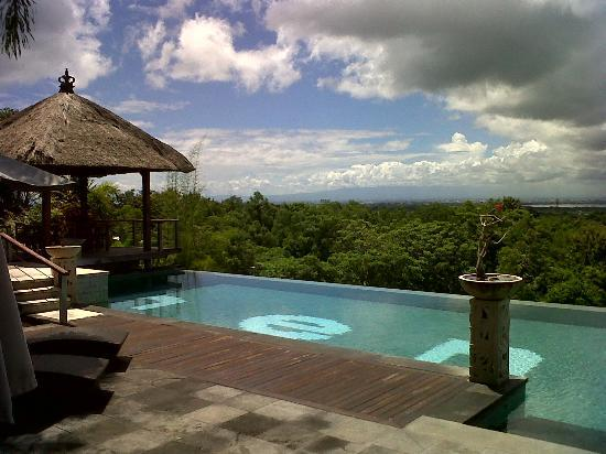Villa Hening Boutique Hotel & Spa Jimbaran Bali: pool area