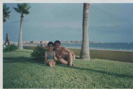 Playa Bonita Hotel: Alfonso y José María en el Jardín del Hotel