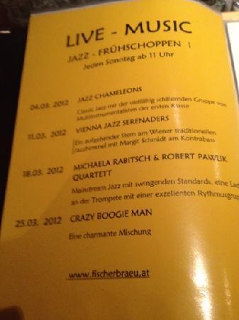 Fischer Brau : Jazzbrunch