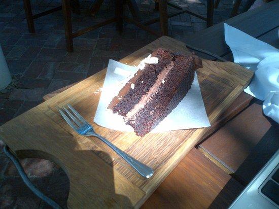 La Belle Bistro & Bakery: Choc Cake with White Choc Flakes - Amazing
