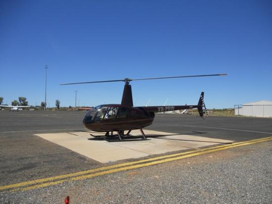 Ayers Rock Scenic Flights: Helicopter used for flight
