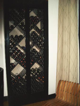 Sorellina: their wine rack