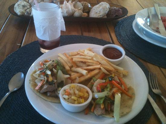 Soma Surf Resort: Fish Tacos made from fish we caught
