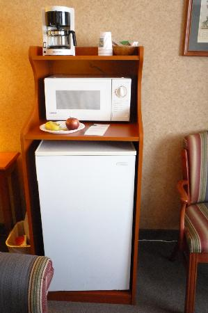 Quality Inn Mineral Point: Excellent addition to the room - fridge a little loud.