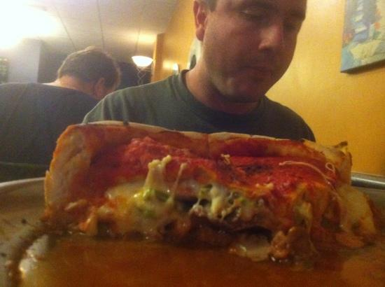 Chicago Style Pizza Shack: deep dish roast beef