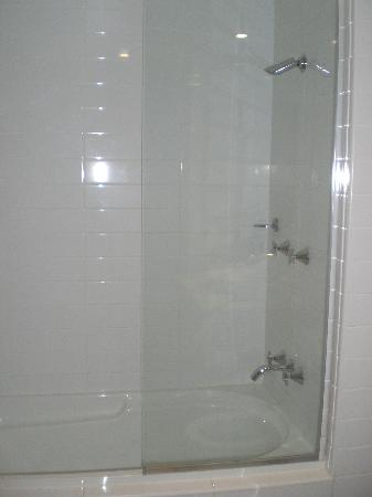 Chancellor Lakeside Apartments: Shower over bath
