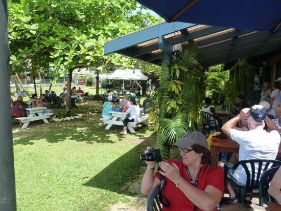 Copra Shed Marina: The Yacht Club verandah