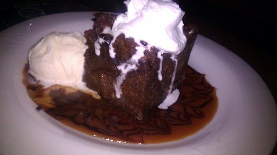 Joe's Nuevo Latino: bread pudding chocolate