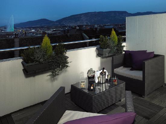 Hotel Auteuil - Manotel Geneva: Executive room Terrace