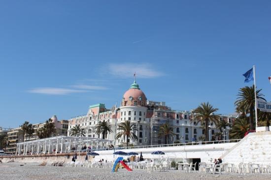 hotel negresco from the beach picture of hotel negresco. Black Bedroom Furniture Sets. Home Design Ideas