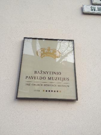 St. Michael's Church (Sv. Mykolo Baznycia): Hinweisschild