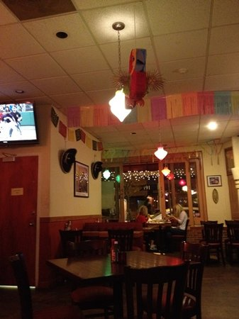 Mary Ann's: casual setting with tv's in dining and bar area