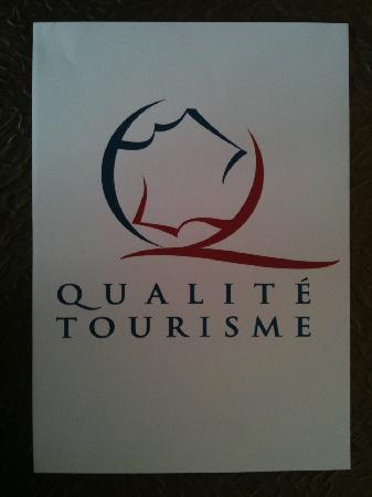 Hotel Le Chardon Bleu : label qualité tourisme