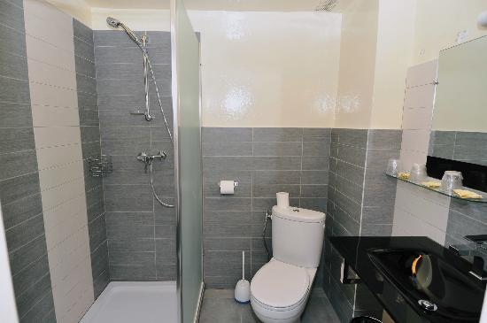 Hotel Le Chardon Bleu : salle de bain chambre  supérieure