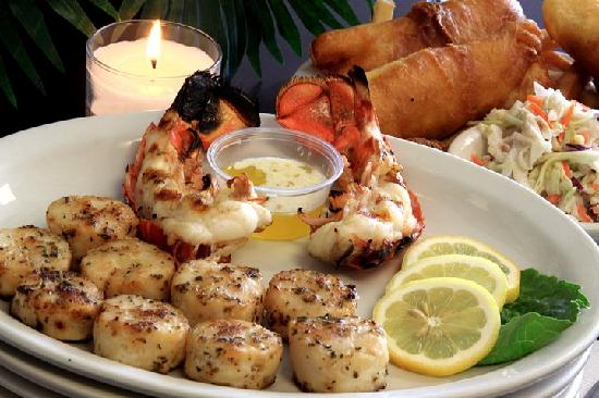 Wink's Old Town Grill: Wink's Lobster Tail, Grilled Shrimp and Grilled Scallop Dinner!!