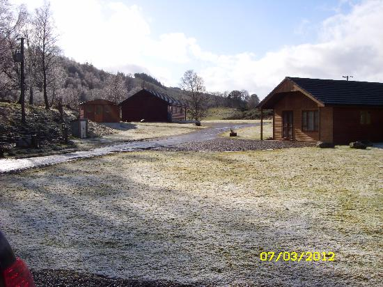 Lochletter Lodges: cold and frosty morning in march