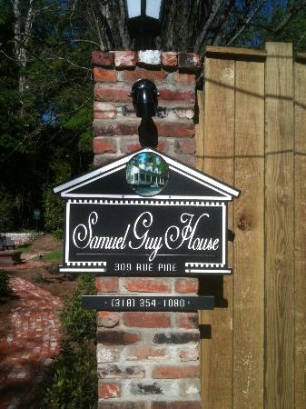 Samuel Guy House: Sign