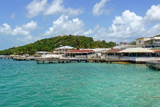 Lambi's Guest House: view from the ferry pier