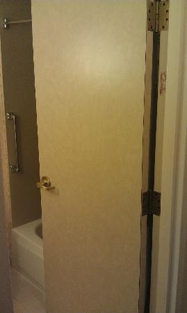 Hilton Garden Inn Tallahassee: Fabulous Formica Bathroom door