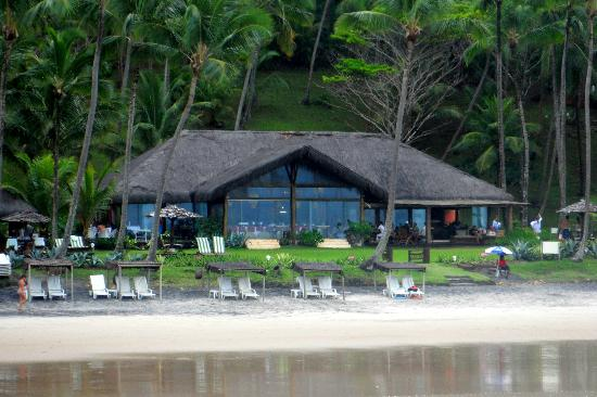 Itacare Eco Resort: the restaurant seen from the beach
