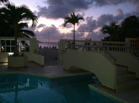 Iguana Reef Inn: Pool at sunset