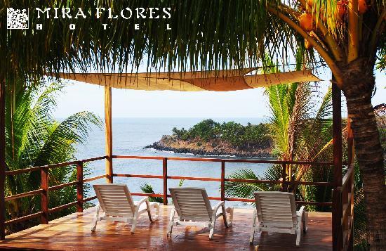El Cuco, El Salvador: Sundeck, Hotel Miraflores, El Salvador