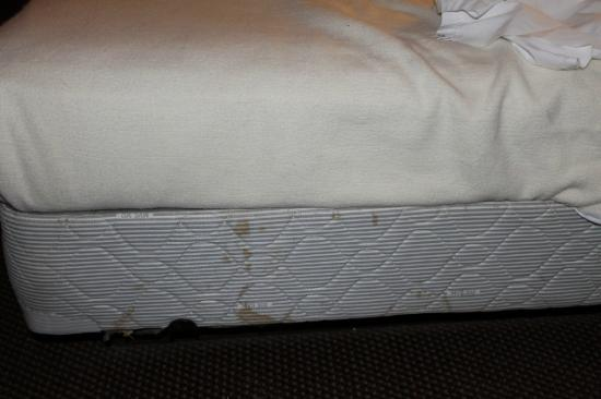 Oak Hill Inn & Suites: Stained mattress