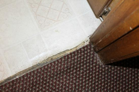 Oak Hill Inn & Suites: Flooring needs to be replaced