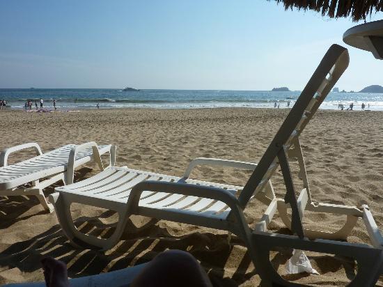 Tesoro Ixtapa: Photo prise de ma chaise sur la plage