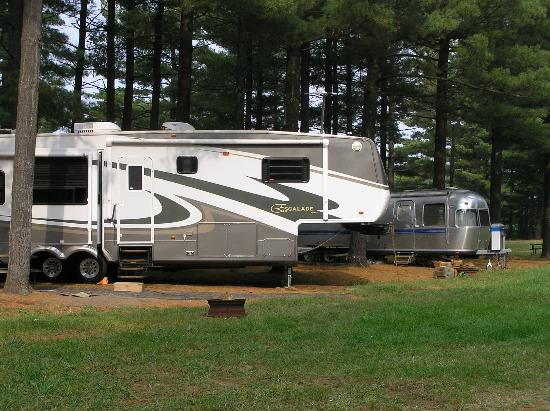 Eby's Pines Campground: typical campsites