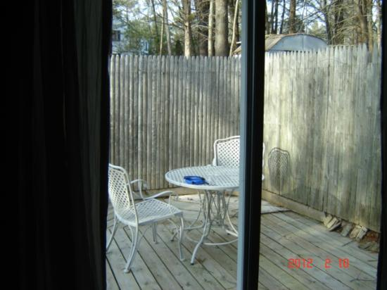 Abbey's Lantern Hill Inn: Fenced-in back yard...no need to worry about the dog escaping