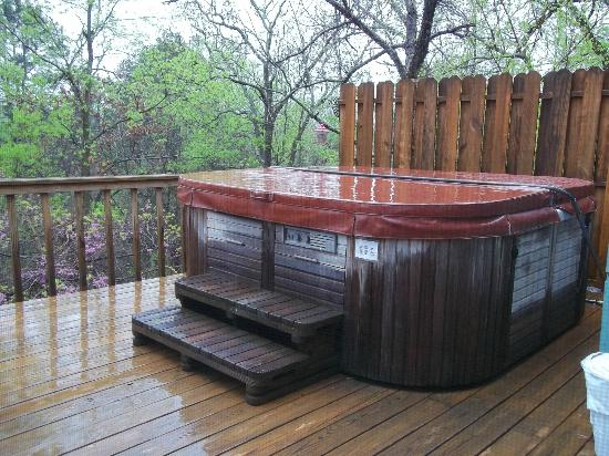 Hot Tub Picture Of Treehouse Cottages Eureka Springs