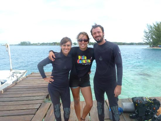 Captain Morgan's Dive Centre : Con nuestra instructora Carla