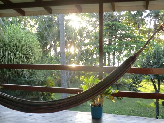 Pargo Feliz Hotel: view and hammock in front of the room