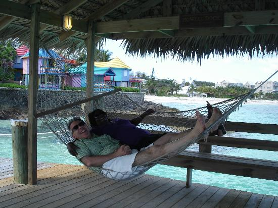 Compass Point Beach Resort: Relaxing on the dock