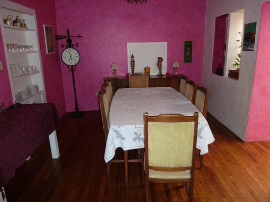 La Casa Amarilla: The little white window is where the breakfast comes from.