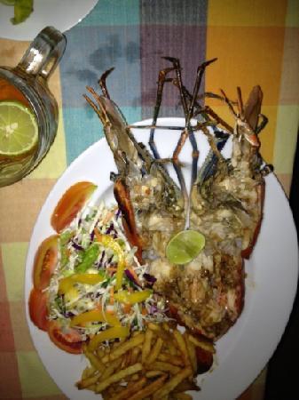 Samson Restaurant: jumbo prawns for 10usd
