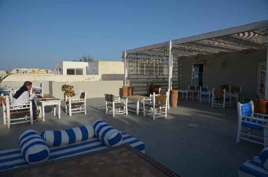 Hotel Vent des Dunes: Terrasse