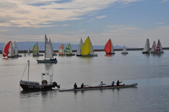 Relish Waterfront Dining: Becalmed Yatch race