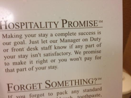 Holiday Inn Express Oxford: Promise...yeah right