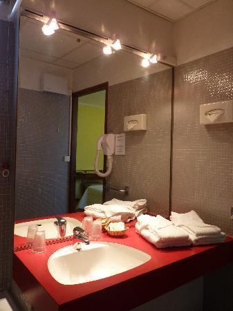 Hotel Le cheval Blanc: Salle de bain