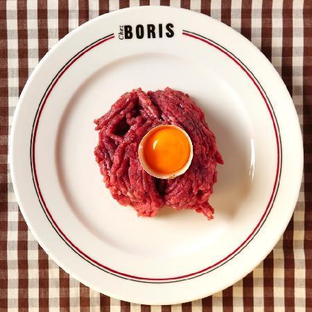 Chez Boris : Notre tartare haché minute