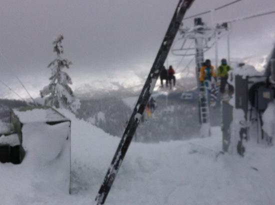 Montana Snowbowl: coming up the lift